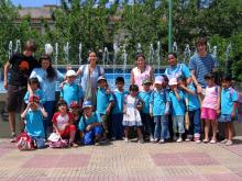 Excursion with the kindergarten: group picture