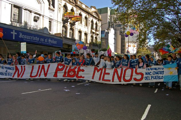 "Protest march of the ""marcha por la vida"""