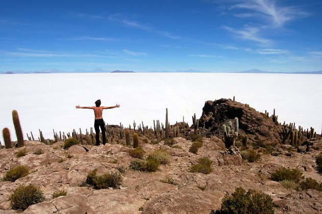 Julian in the desert of Uyuni