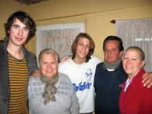 Julian and Patrick with their host familiy